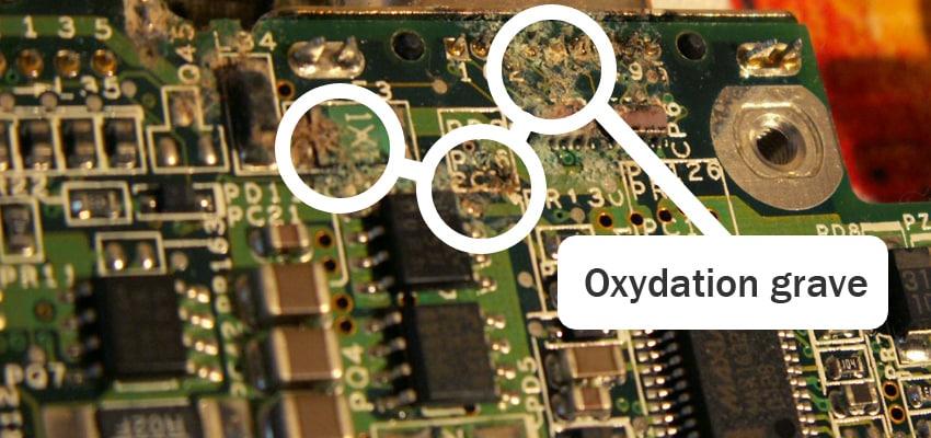 désoxydation carte mere pc portable