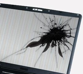 remplacement ecran pc portable cassé fissuré